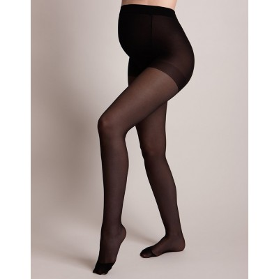 40 Denier Black Over Bump Maternity Tights